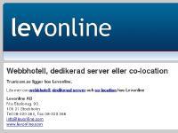 Webbhotell, dedikerad server eller co-location hos Levonline
