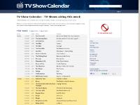 TV Show Calendar - TV Shows airing this week - TVShowCalendar.com