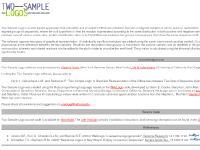 twosamplelogo.org Create TSL, Examples, Predrag Radivojac