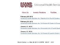 Hospital Management - Universal Health Services
