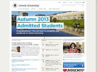 umeauniversity.se Umea, Umea University, Sweden university
