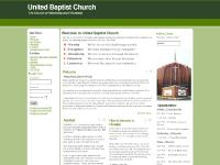 Welcome to United Baptist Church