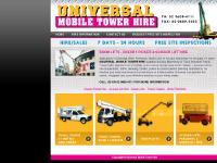 Cherry Picker & Scissor Lift Hire - Boom Lifts | Universal Mobile Tower Hire