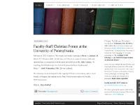 upennfscf | Penn Faculty-Staff Christian Forum
