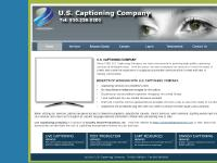 uscaptioning.com sponsorship, closed captioning, captioning