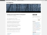 Via Negativa | A literary weblog.