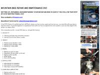 MtnBikeRepair.com | CYCLING | MOUNTAIN BIKE REPAIR AND MAINTENANCE DVD