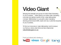 videogiant.co.uk Online Video Marketing, Video Billboarding, Drive Traffic