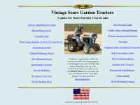 vintagesearsgardentractors.com Sears Garden Tractor, Garden Tractor, Sears Suburban