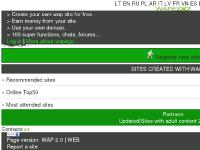 Wapego -wap/mobile site builder/wap creator
