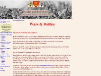 War and Battle - Wars and Battles Home