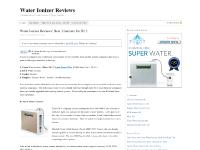 Water Ionizer Reviews | 2012 Best Water Ionizers