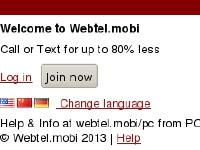 webtel.mobi US flag, Chinese flag, German flag