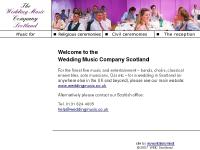 The Wedding Music Company Scotland - Music for civil and religious ceremonies and the reception