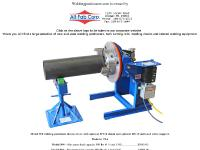Welding Positioners, Tank Turning Rolls, Welding Chucks and related welding equipment.