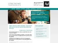 wilkinsonpr.co.uk Wilkinson Public Relations, Services, Public Relations