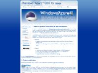 Windows Azure SDK for Java Developers