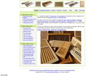 floor vents, wall shelves, shutter components, wood shelf