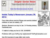 zeiglerseniornews.com Zeigler Senior News, news you can use for seniors, senior news