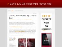 Zune 120 GB Video Mp3 Player Red